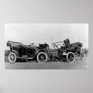 CLASSIC CAR CRASH 1914 POSTER
