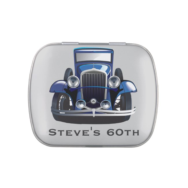 Classic Car Design Party Favor Candy Tin