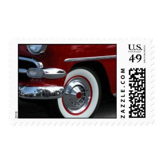 classic car design postage stamp