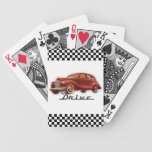 Classic Car Driver Bicycle Card Deck