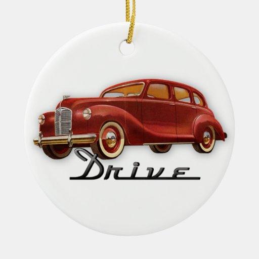 Classic Car Driver Christmas Ornaments