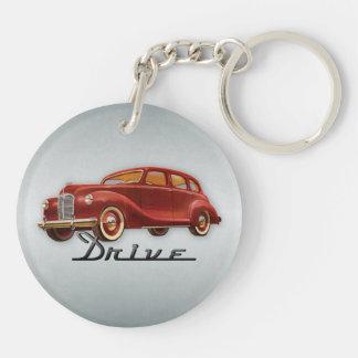 Classic Car Driver Keychain