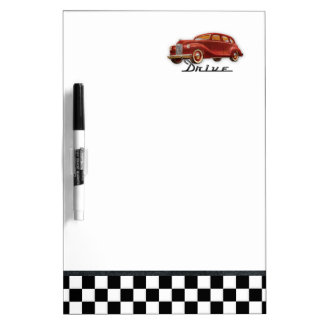 Classic Car Driver Midcentury Memo Dry-Erase Board