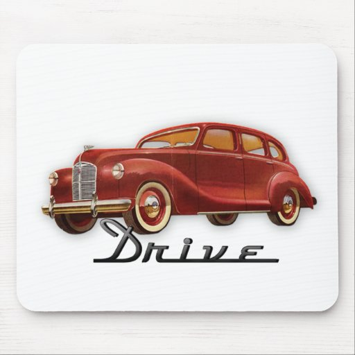 Classic Car Driver Mouse Pad