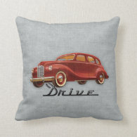 Classic Car Driver Pillows