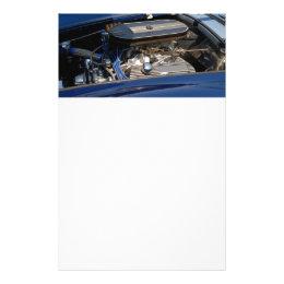 classic car engine flyer