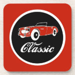 Classic Car Fifties Convertible Beverage Coasters