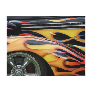CLASSIC CAR FLAMES CANVAS PRINT