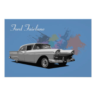 Classic Car - Ford Fairlane Poster