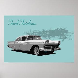 Classic Car - Ford Fairlane Print