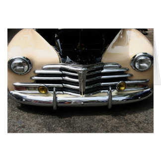 Classic Car Front Card-Blank Card