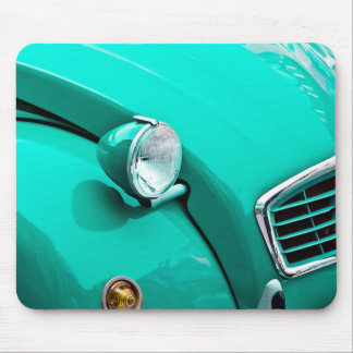 Classic Car Grill and Headlight Photograph Mouse Pad