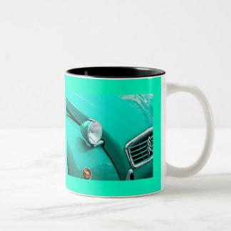 Classic Car Grill and Headlight Photograph Coffee Mug