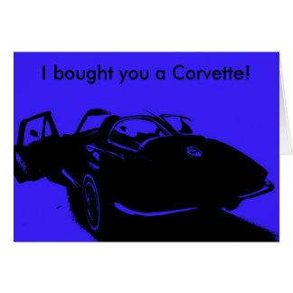 Classic Car Happy Birthday Card