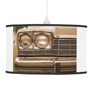Classic Car Headlight Closeup Hanging Lamp