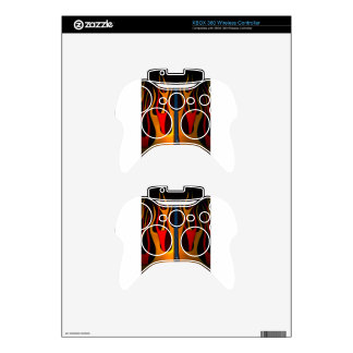 Classic Car Hood Flame Paint Xbox 360 Controller Decal