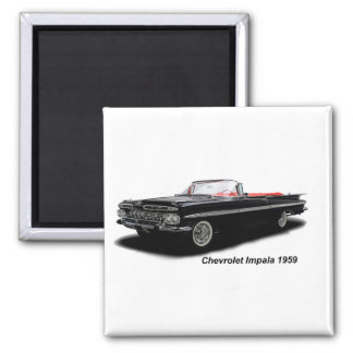 Classic Car image for 2 Inch Square Magnet
