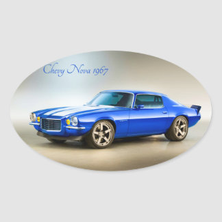 Classic Car image for Oval-Stickers-Glossy Oval Sticker