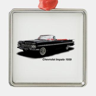 Classic Car image for Premium-Square-Ornament Silver-Colored Square Ornament