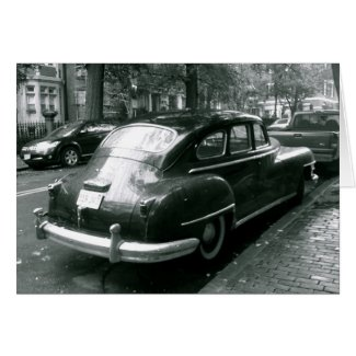Classic car in Beacon Hill Photo Note Card
