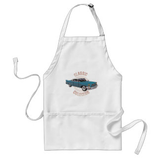 Classic car in blue with white hard top adult apron