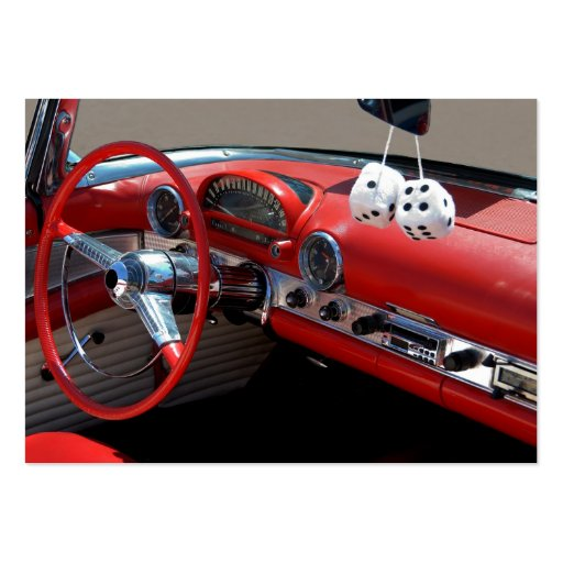 classic car interior large business cards pack of 100 zazzle. Black Bedroom Furniture Sets. Home Design Ideas