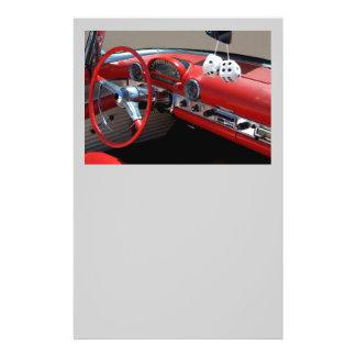 classic car interior flyer