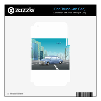 Classic car iPod touch 4G decals