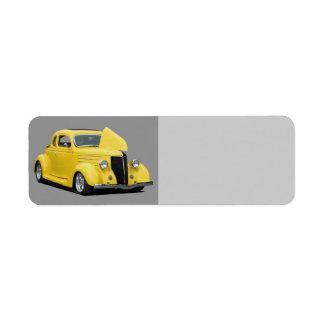 Classic car custom return address labels