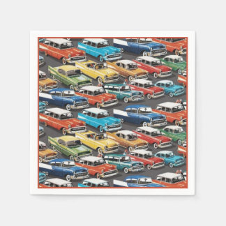 Classic Car Lovers Paper Napkins