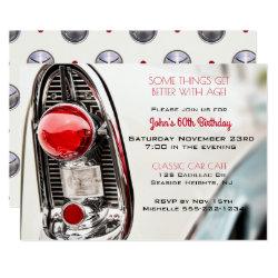 Classic Car Mid Century Tail Light Invitation