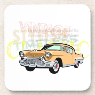 Classic car, old Chevrolet Bel Air in brown Drink Coaster