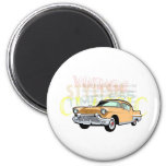 Classic car, old Chevrolet Bel Air in brown Fridge Magnets
