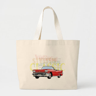 Classic car, old vintage coupe in red canvas bag