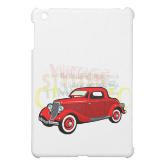 Classic car, old vintage coupe in red iPad mini cover