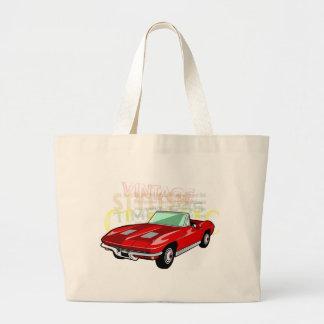 Classic car, old vintage model vehicle tote bag