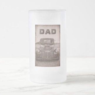 Classic car on a beer mug for Dad