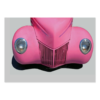classic car painted pink large business cards (Pack of 100)