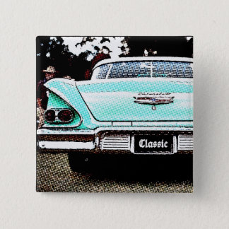 Classic car pinback button