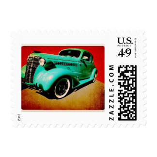 Classic Car Postage Stamp