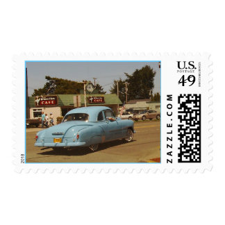 classic car postage stamp