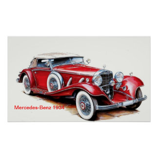 Mercedes benz art framed artwork zazzle for Mercedes benz wall posters