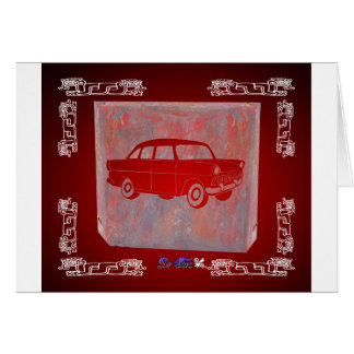 CLASSIC CAR RED CUSTOMIZABLE PRODUCTS CARD