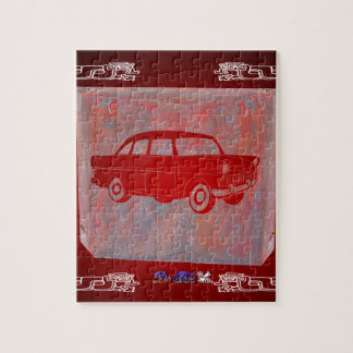 CLASSIC CAR RED CUSTOMIZABLE PRODUCTS PUZZLES
