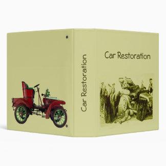CLASSIC CAR RESTORATION Automotive 3 Ring Binder