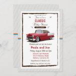 Classic Car Retro Baby Shower Invitation