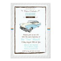 Classic Car Retro Retirement Invitation