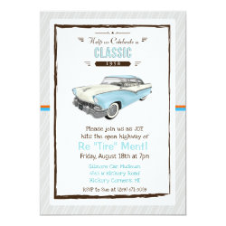 Classic Car Retro Retirement Invitation