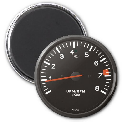 Classic car rev counter, racing air-cooled 911 magnets