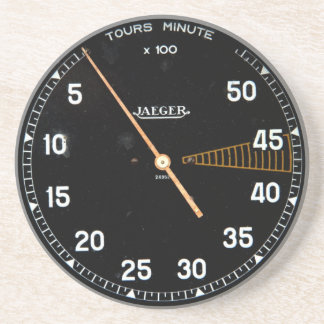 Classic car rev counter, vintage tachometer coaster